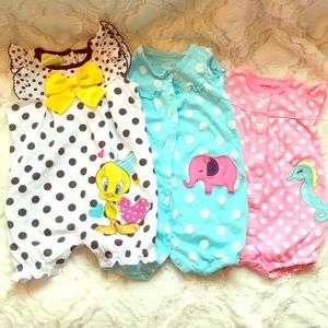 🔥5 for $20🔥 Onesie bundle. 3-6 and 6-9 mos